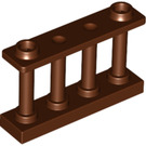 LEGO Reddish Brown Fence Spindled 1 x 4 x 2 with 2 Top Studs (30055)