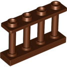 LEGO Reddish Brown Fence Spindled 1 x 4 x 2 with 4 Top Studs (15332)