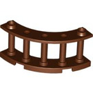 LEGO Reddish Brown Fence Spindled 4 x 4 x 2 Quarter Round with 2 Studs (30056)