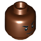 LEGO Reddish Brown Finn Plain Head (Recessed Solid Stud) (23952)
