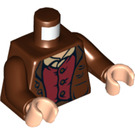 LEGO Frodo Baggins Torso with Jacket over Dark Red Vest and Tan Shirt (76382 / 88585)