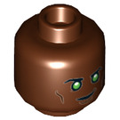 LEGO Reddish Brown Green Lantern - John Stewart Plain Head (Recessed Solid Stud) (34837)