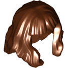 LEGO Reddish Brown Hair Mid-Length and Wavy with Bangs (37697 / 80675)