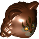 LEGO Reddish Brown Hermione Cat Head (79143)