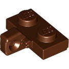 LEGO Reddish Brown Hinge Plate 1 x 2 Locking with Vertical Stub with Bottom Groove (44567)