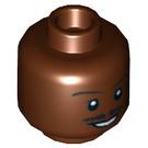 LEGO Reddish Brown Lando Calrissian - Skiff Guard Outfit Head (Recessed Solid Stud) (10470)