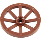 LEGO Reddish Brown Large Wagon Wheel (34mm) with Notched Hole (4489)