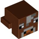 LEGO Reddish Brown Minecraft Cow Head (20056 / 28286)