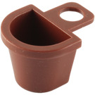 LEGO Reddish Brown Minifig Container D-Basket (4523)