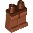 LEGO Reddish Brown Minifigure Hips with Dark Orange Legs (73200)
