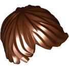 LEGO Reddish Brown Minifigure Left-Swept Tousled Straight Hair (87991)