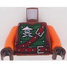 LEGO Reddish Brown Ninjago Torso