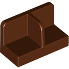 LEGO Reddish Brown Panel 1 x 2 x 1 with Thin Central Divider and Rounded Corners (18971)