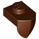 LEGO Reddish Brown Plate 1 x 1 with Tooth (15070)