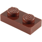 LEGO Reddish Brown Plate 1 x 2 (3023)
