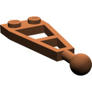 LEGO Reddish Brown Plate 1 x 2 with 3L Extension and Towball