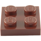 LEGO Reddish Brown Plate 2 x 2 (3022 / 94148)