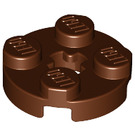 LEGO Reddish Brown Plate 2 x 2 Round with Axle Hole (with 'X' Axle Hole) (4032)