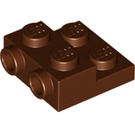 LEGO Reddish Brown Plate 2 x 2 x 2/3 with 2 Studs on Side (99206)