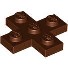 LEGO Reddish Brown Plate 3 x 3 Cross (15397)