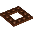 LEGO Reddish Brown Plate 4 x 4 with 2 x 2 Open Center (64799)