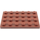 LEGO Reddish Brown Plate 4 x 6 (3032)