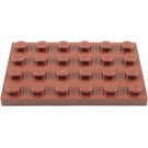 LEGO Reddish Brown Plate 4 x 6 (3032)