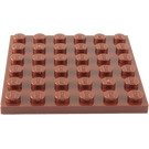 LEGO Reddish Brown Plate 6 x 6 (3958)