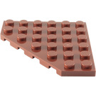 LEGO Reddish Brown Plate 6 x 6 without Corner (6106)