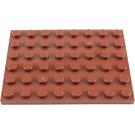 LEGO Reddish Brown Plate 6 x 8 (3036)