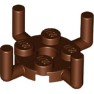 LEGO Reddish Brown Plate Round 2 x 2 with 4 Vertical Arms (98284)