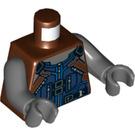 LEGO Reddish Brown Rocket Minifig Torso (76382)