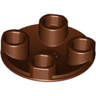 LEGO Reddish Brown Round Plate 2 x 2 with Rounded Bottom (2654)