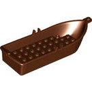 LEGO Reddish Brown Rowing Boat 5 x 14 x 2 1/3 (2551 / 21301)