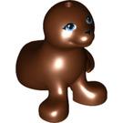LEGO Reddish Brown Seal with Blue Eyes (17437)