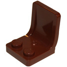 LEGO Reddish Brown Seat 2 x 2 with Sprue Mark in Seat (4079)