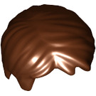 LEGO Reddish Brown Short Tousled Hair with Side Parting (62810 / 88425)