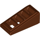 LEGO Reddish Brown Slope 18° 2 x 1 x 2/3 Grille (61409)