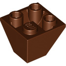 LEGO Reddish Brown Slope 2 x 2 (45°) Inverted (3676)