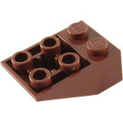 LEGO Reddish Brown Slope 2 x 3 (25°) Inverted with Connections between Studs (3747)