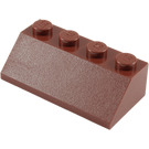 LEGO Reddish Brown Slope 2 x 4 (45°) with Rough Surface (3037)