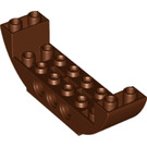 LEGO Reddish Brown Slope 2 x 8 x 2 Curved Inverted Double (28919)