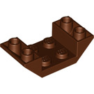 LEGO Reddish Brown Slope 45° 4 x 2 Double Inverted with Open Center (4871)