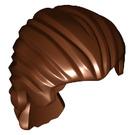 LEGO Reddish Brown Swept Back Hair with Short Ponytail (95226)