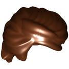 LEGO Reddish Brown Swept Back Wavy Tousled Hair (61183)