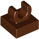 "LEGO Reddish Brown Tile 1 x 1 with Clip (Raised ""C"") (15712 / 44842)"