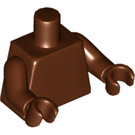 LEGO Reddish Brown Undecorated Torso with Reddish Brown Hands and Arms (76382 / 88585)