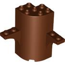 LEGO Reddish Brown Wall 3 x 3 x 5 with Arch 1 x 4 Circle (60373)