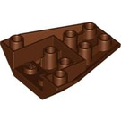 LEGO Reddish Brown Wedge 4 x 4 Triple Inverted without Reinforced Studs (4855)