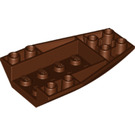 LEGO Reddish Brown Wedge 6 x 4 Triple Curved Inverted (43713)